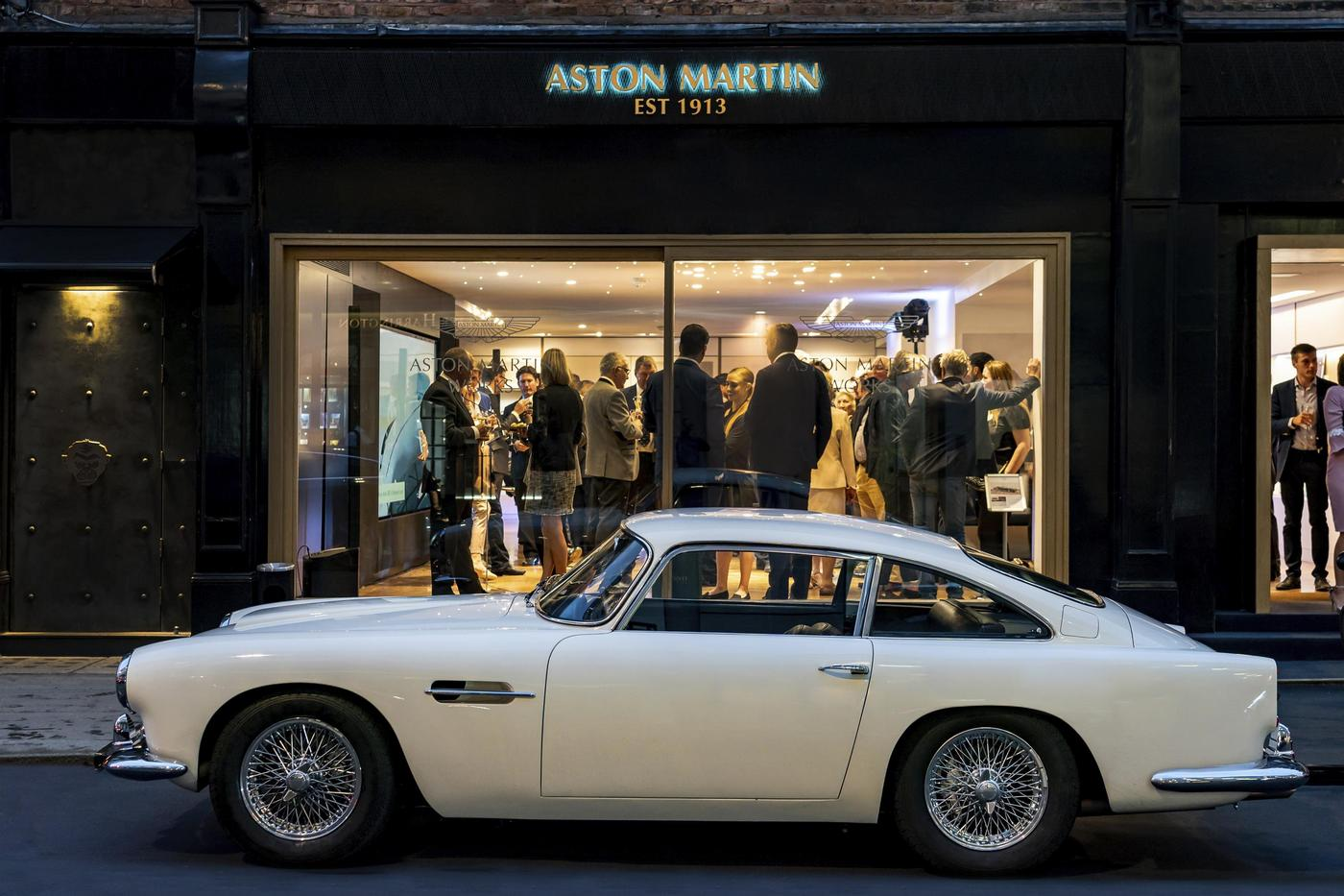 Aston Martin has opened a showroom in London dedicated to classic cars