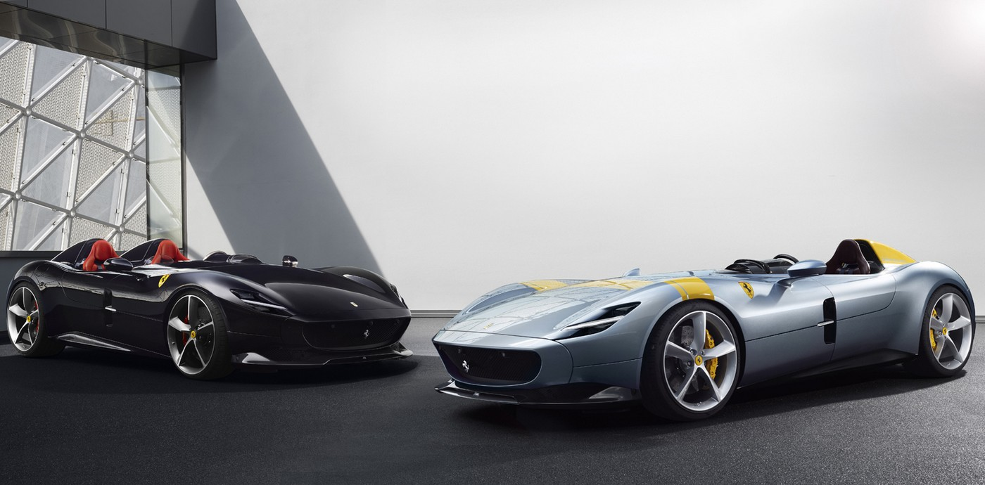 Ferrari has created two special edition supercars styled after iconic open-top racers from the past