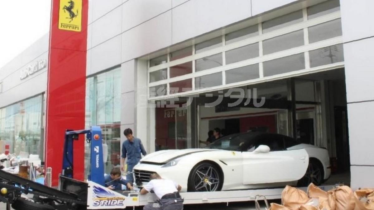 Typhoon Jebi destroys 51 Ferraris worth $9 million at a dealership in Japan