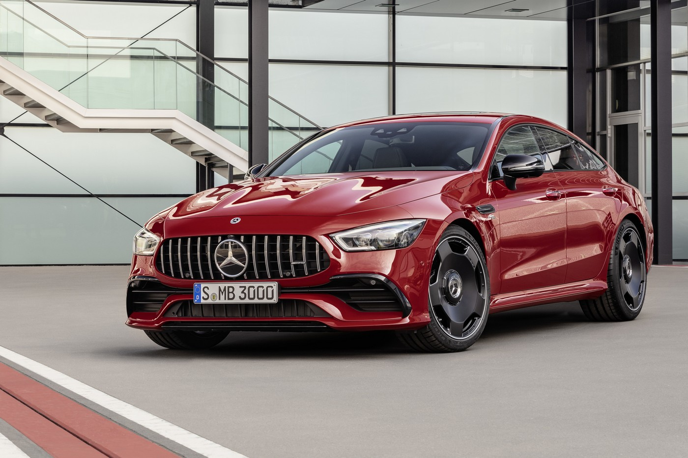 mercedes amg has expanded gt 4 door coupe range with a new entry level gt 43. Black Bedroom Furniture Sets. Home Design Ideas