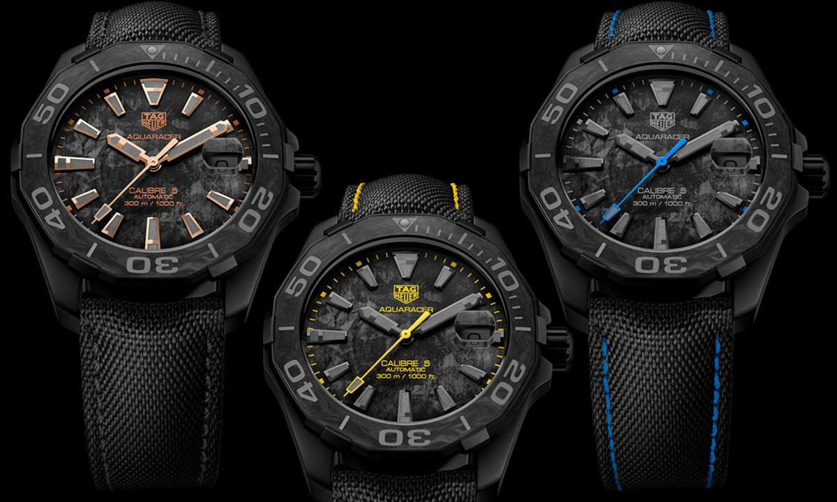 TAG Heuer's Carbon Aquaracer Calibre 5 Watches Are