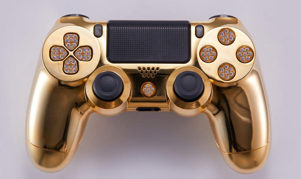 24 karat gold plated PlayStation controller (1)