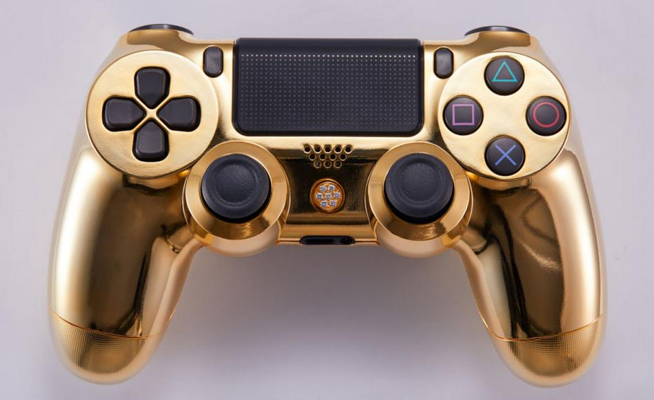 24 karat gold plated PlayStation controller (2)