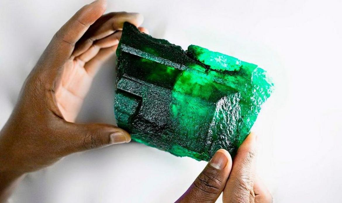 An emerald the size of an iPhone has been found in Zambia -
