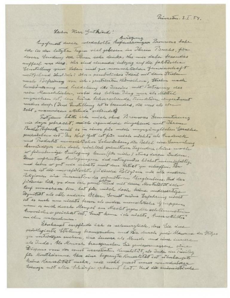 Christie's to soon auction Albert Einstein's God letter ...