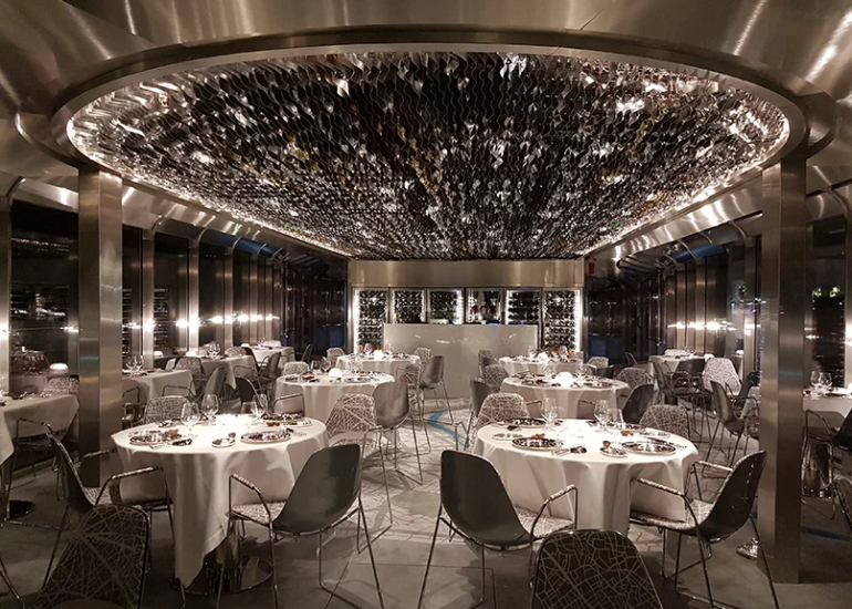 Risultati immagini per World-renowned chef Alain Ducasse's to open a floating restaurant that will take you on a pleasurable journey along the Seine river FOTO