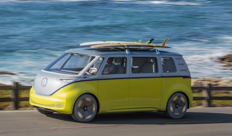 Risultati immagini per Volkswagen is bringing back the iconic Microbus in a new futuristic avatar and it will be electric FOTO