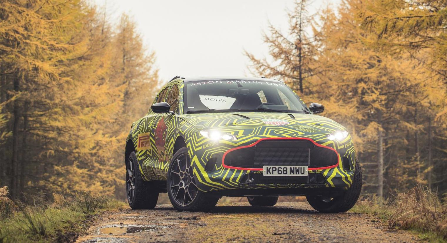 Aston Martin DBX SUV previewed before 2019 launch, will lock horns with the Lamborghini Urus