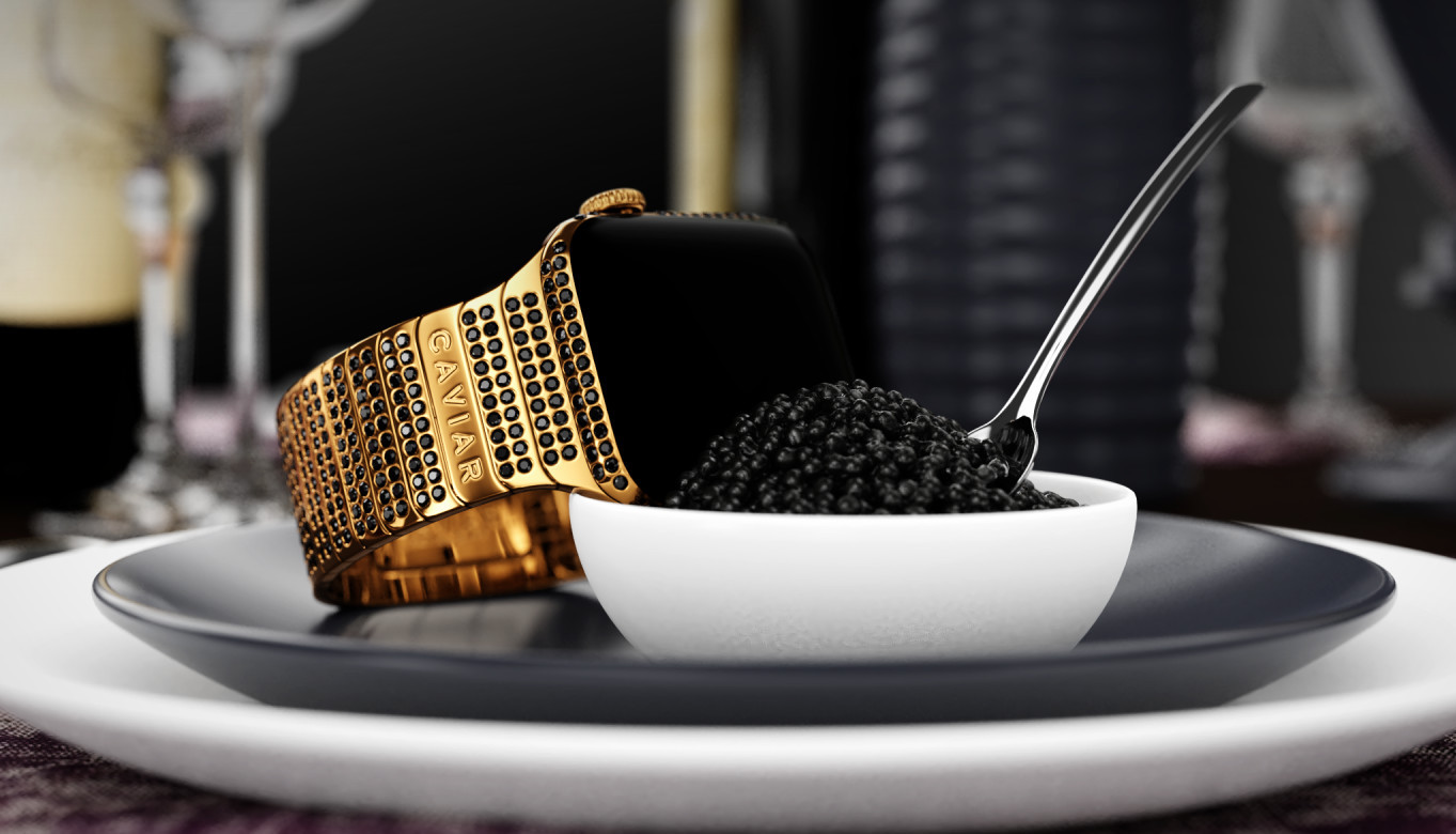 Inspired by the delicacy caviar this diamond studded Apple Watch costs $40,000