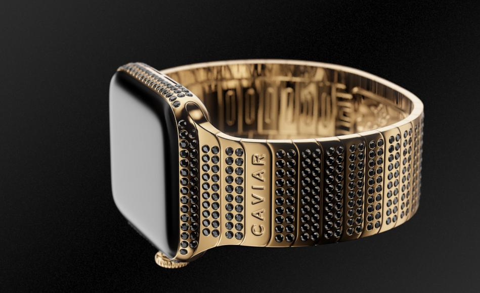Risultati immagini per Inspired by the delicacy caviar this diamond studded Apple Watch costs $40,000 foto