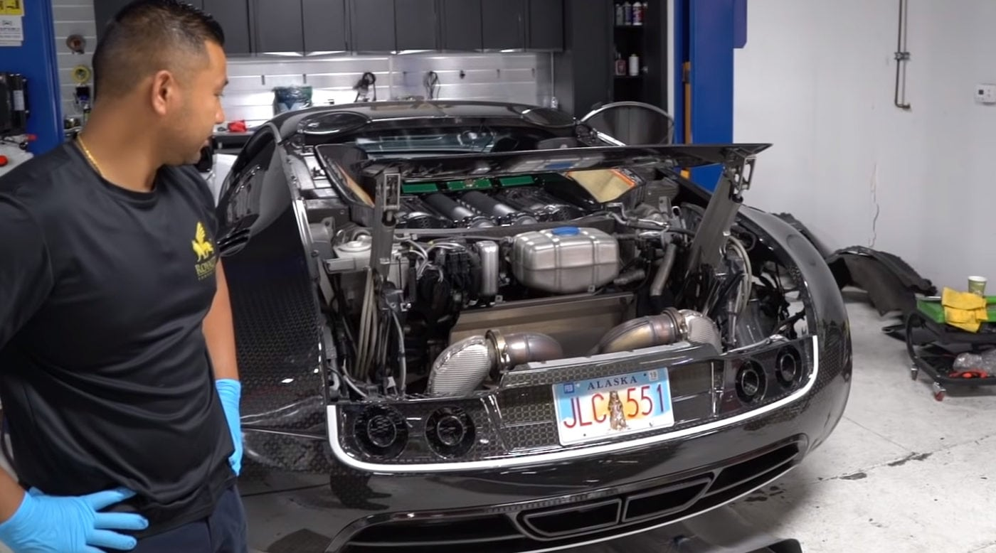Here's why a simple oil change on a Bugatti Veyron costs a whooping $21,000 -