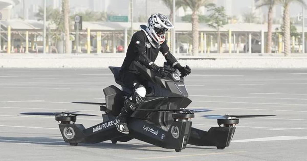 Dubai cops will soon be seen patrolling the streets on drone-like flying hoverbikes