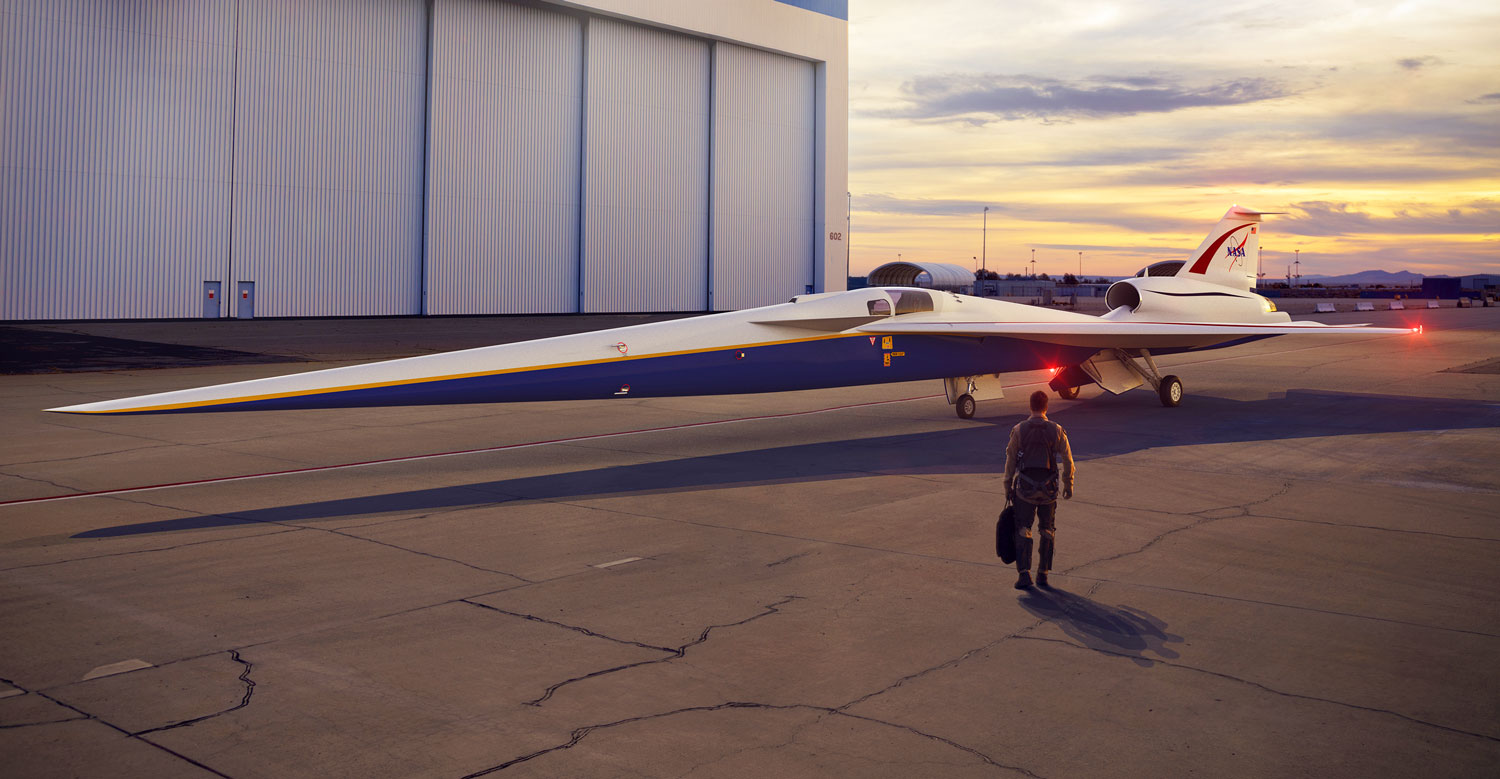The quiet son of Concorde – NASA is making a Ninja supersonic jet that will take passengers from NY to London in just three hours