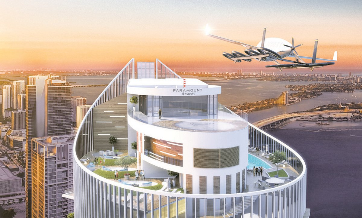 Penthouse sky garages are passé, this Miami building will have sky ports for flying cars -