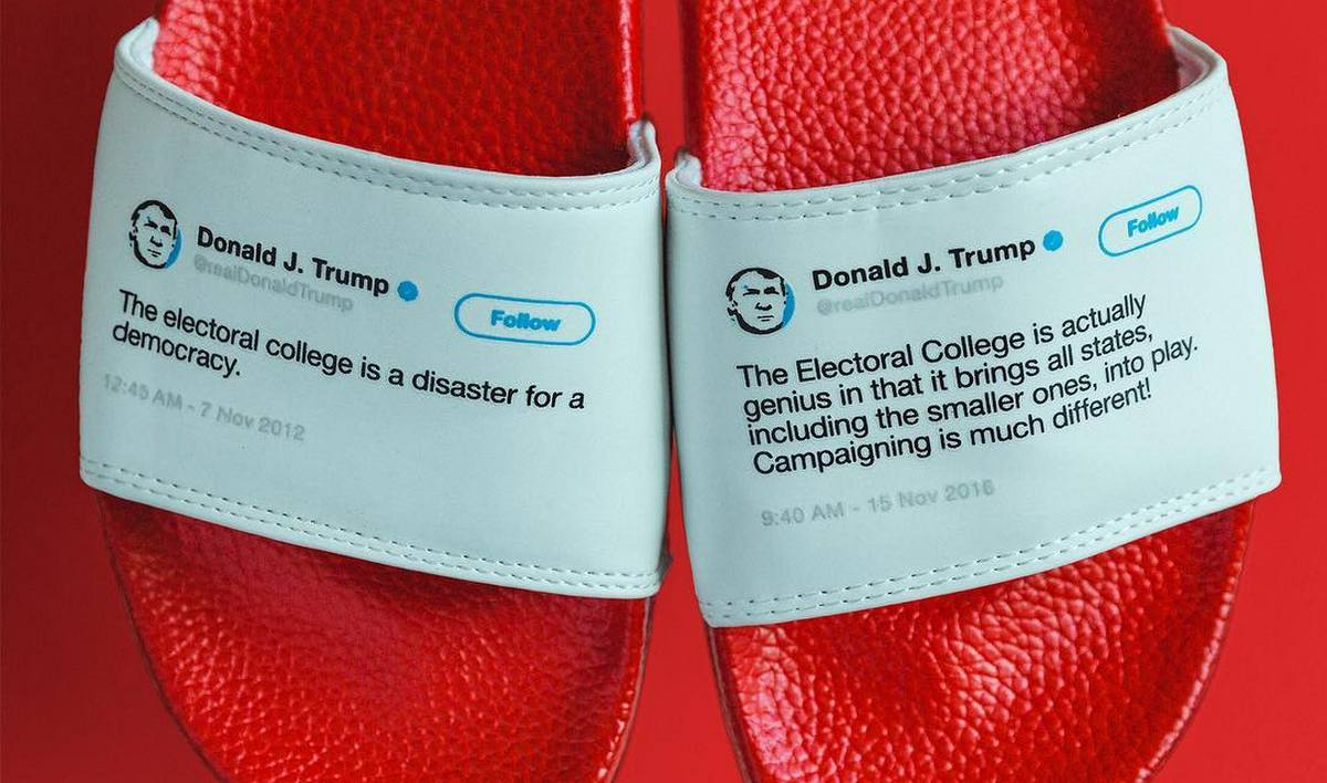 How To Flip Cars >> Donald Trump's infamous tweets have been made into flip-flops (they are sold out)