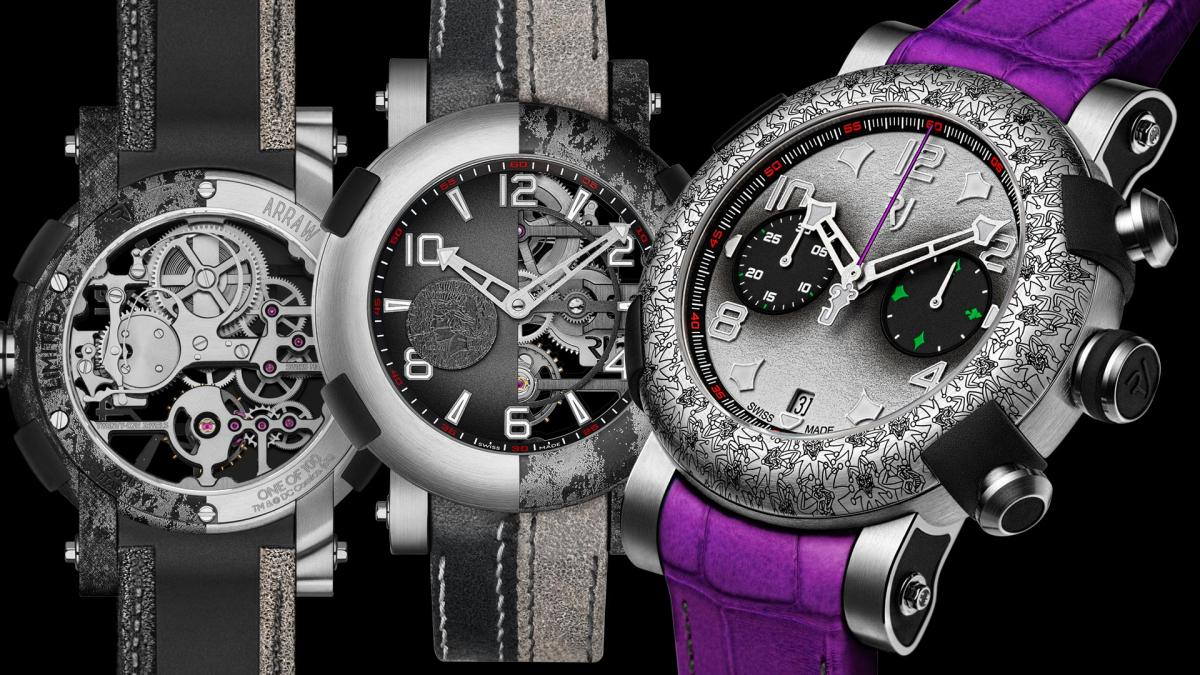 Romain Jerome?s latest limited editions celebrate two of Batman?s biggest enemies: The Joker and Two-Face