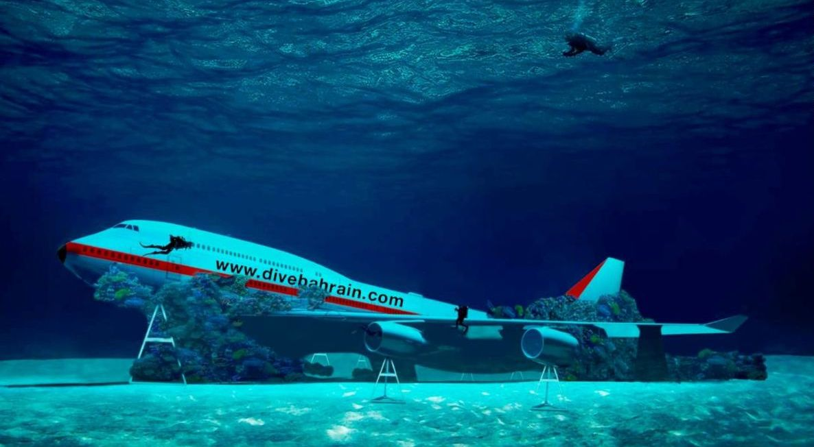 The worlds largest underwater theme park is coming up in Bahrain and it will have its own sunken Boeing 747 Jumbo jet