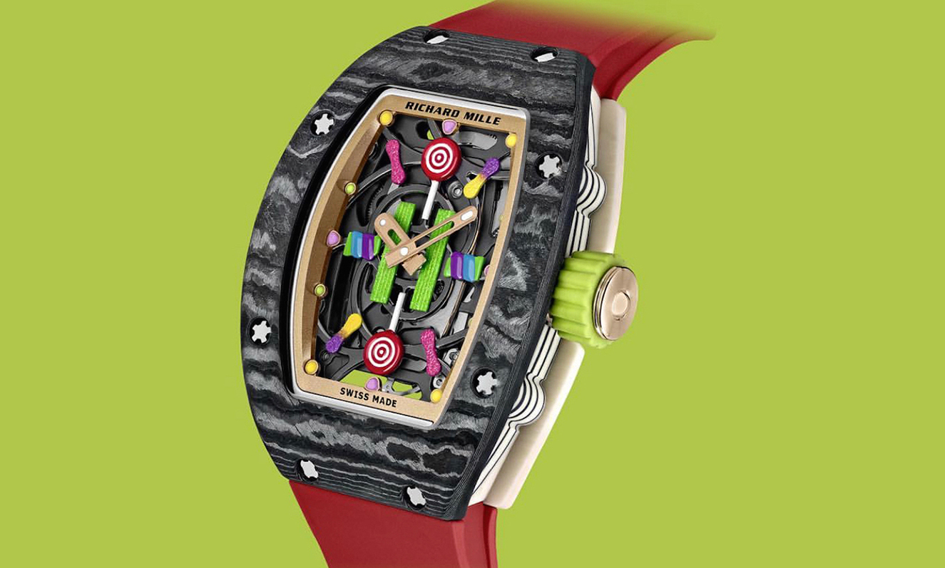 Risultati immagini per This $122k watch is inspired by the candies from our childhood foto