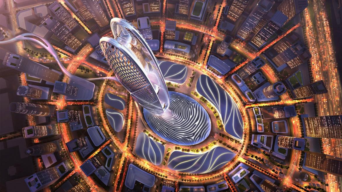 Dubai is building a new skyscraper it will be 500 meters tall and it's facade will be covered with digital displays
