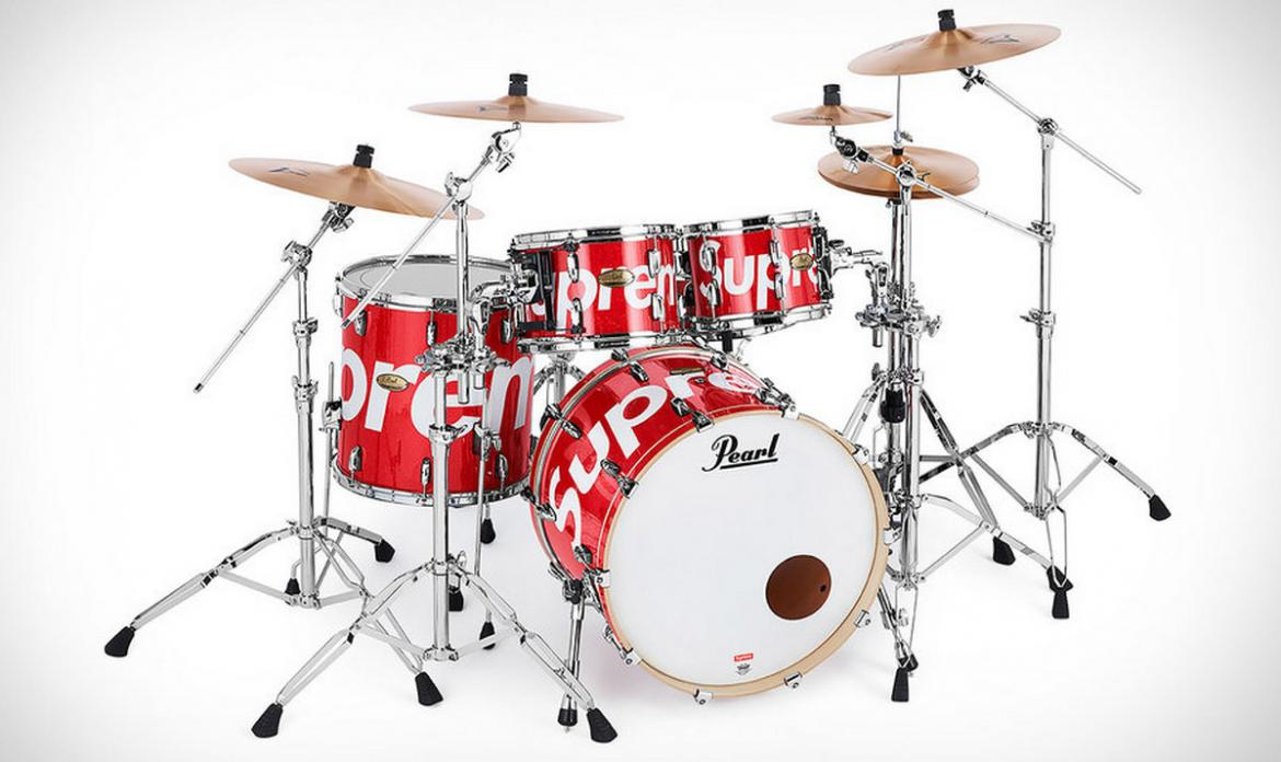 Supreme x Pearl - Could this be the most stylish drum set ever? -