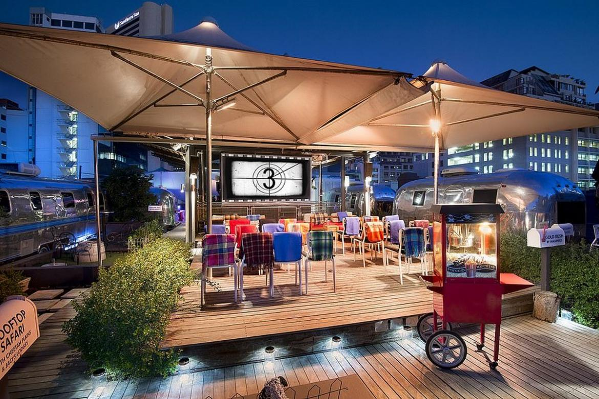 Take a look at this Cape Town hotel which has rooftop Airstreams that you can actually sleep in -