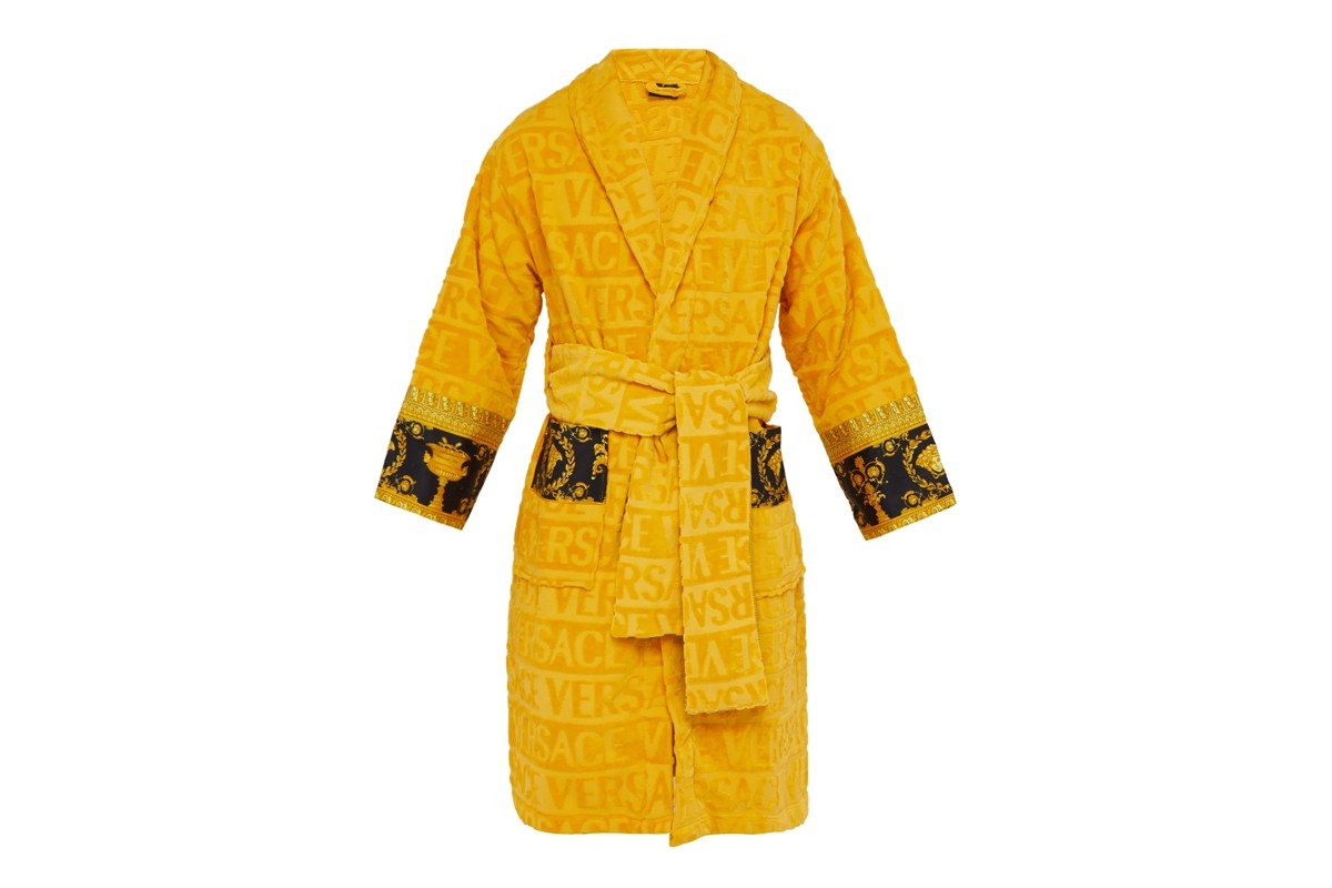 Risultati immagini per Redefying luxe comfort: Here's a peek at the all new 'I love Baroque' bathrobes by Versace