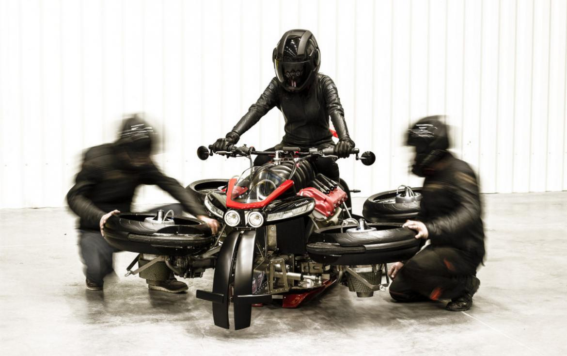 This $500,000 motorcycle transforms into a flying quadcopter in just 60 seconds -