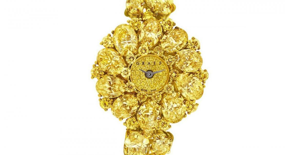 Graff's Fancy Vivid Yellow Diamond watches are set to steal the show at Baselworld -