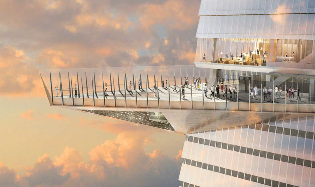 1,110 feet up in the air – New York will soon have the highest observation deck in the Western Hemisphere