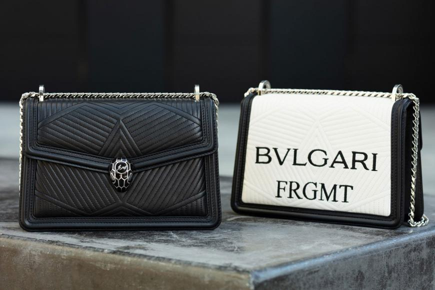 Bvlgari and Fragment Design collaborate for an exclusive bag collection -