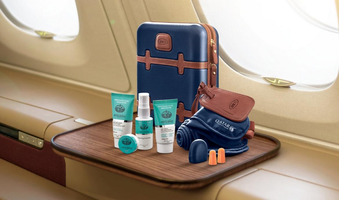 Qatar airways partners with Bric and Nappa Dori for exclusive in-flight amenity kits -