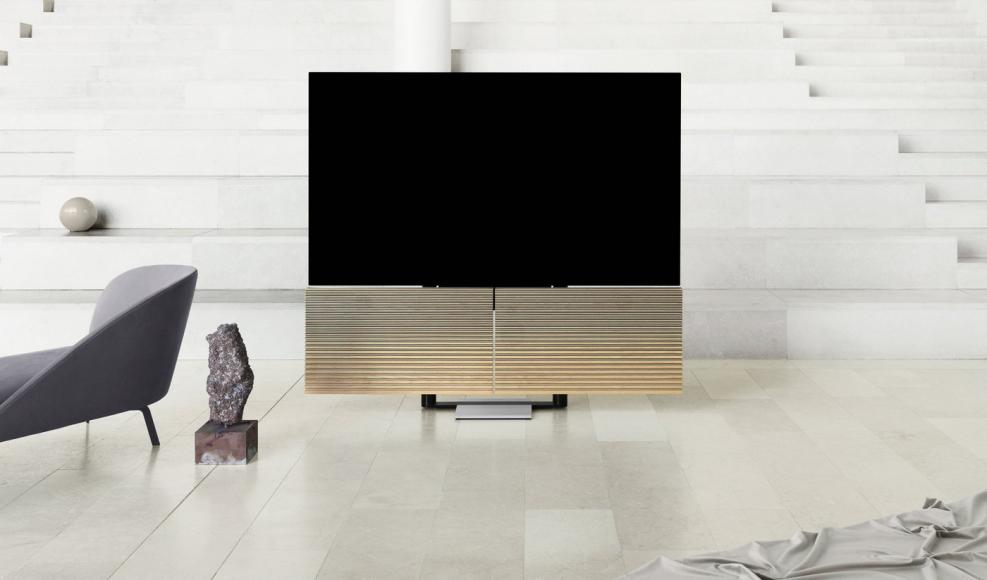 Bang & Olufsen reveals a $20,000 TV that mechanically folds down to take a sculptural form -