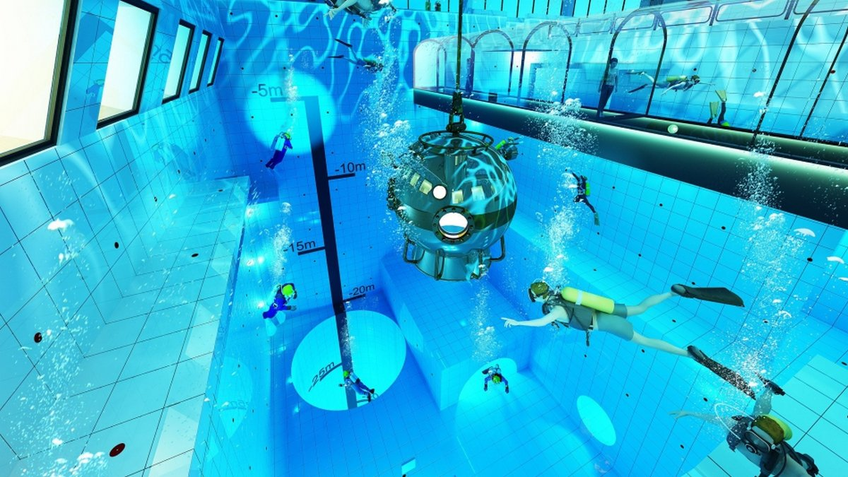 Scary and how – Take a look inside the world's deepest swimming pool