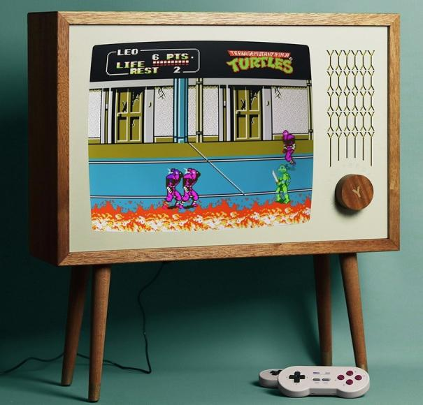Perfect for your man cave - A $2,799 handmade gaming monitor that plays all retro games, from NES to Playstation -