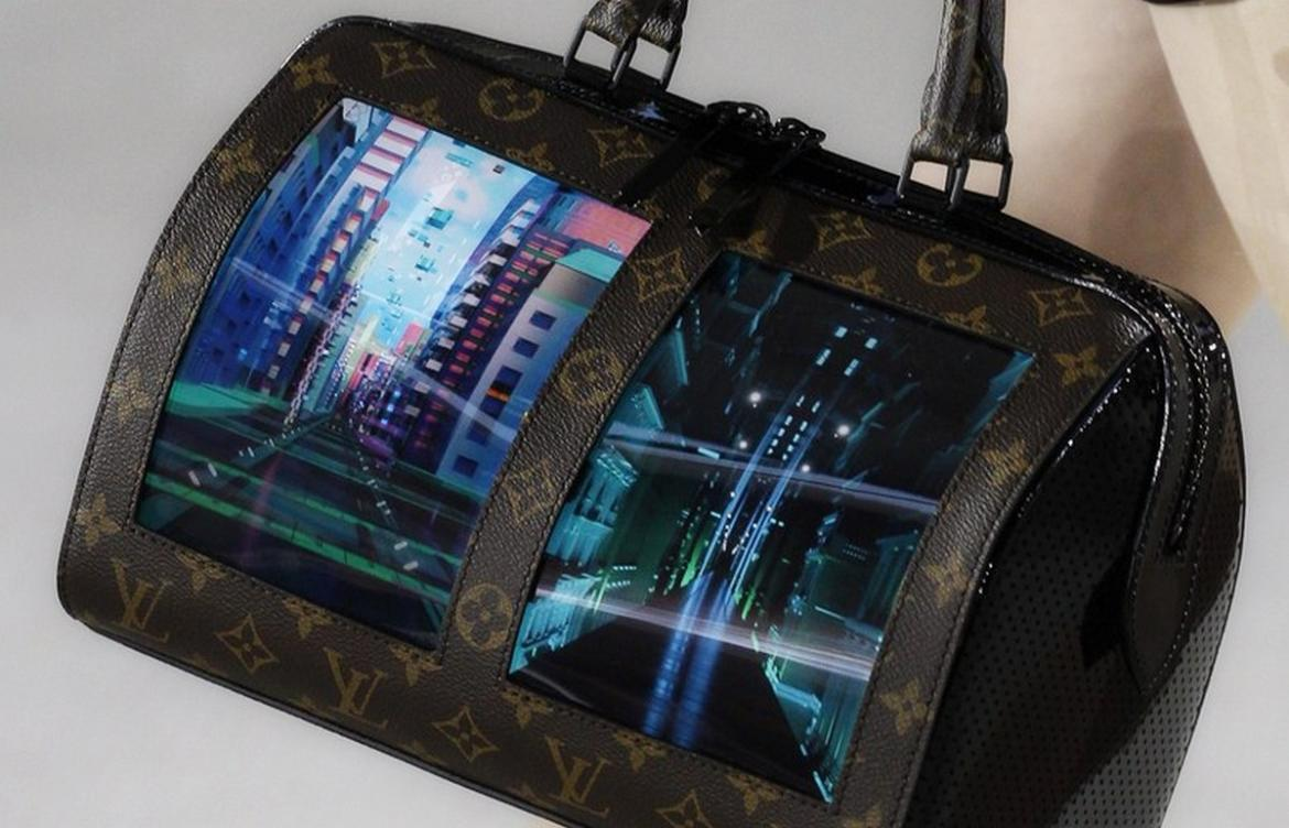 Louis Vuitton has showcased the handbag of the future and it comes with two LED screens -
