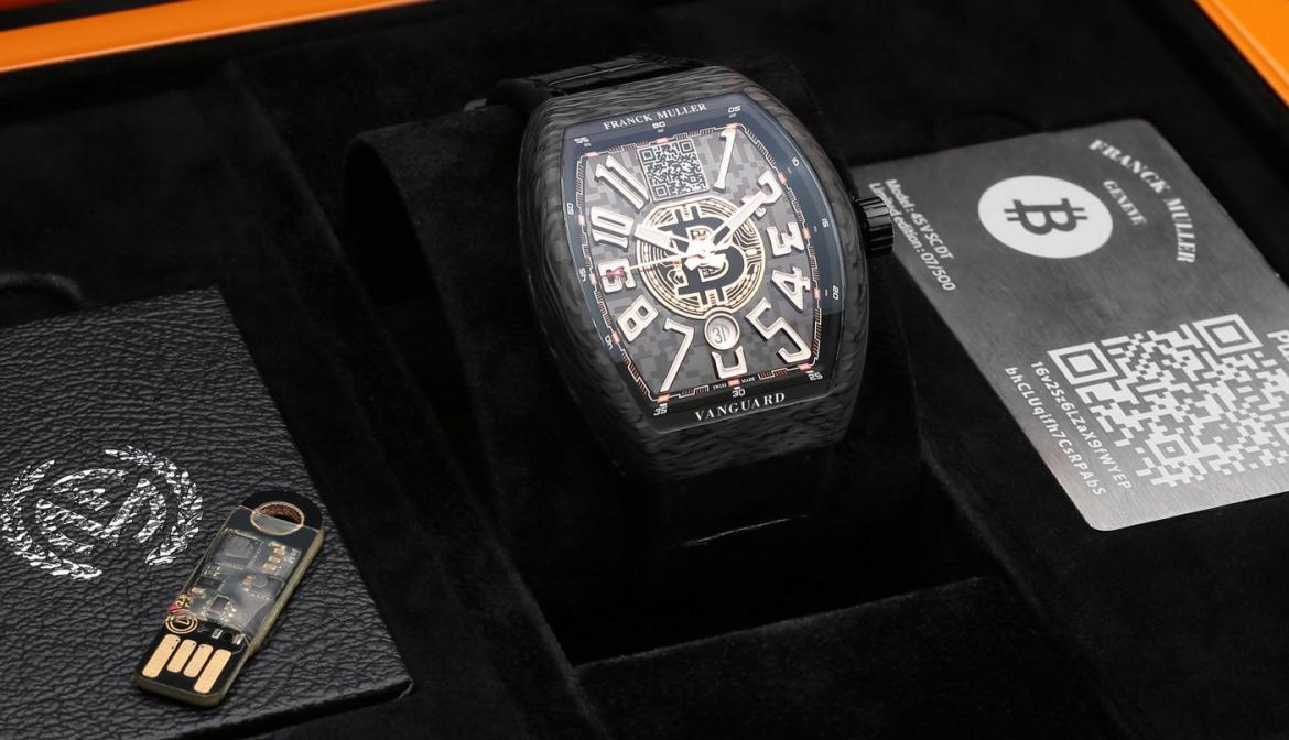 Frank Muller launches the world's first functional Bitcoin watch at $50K -