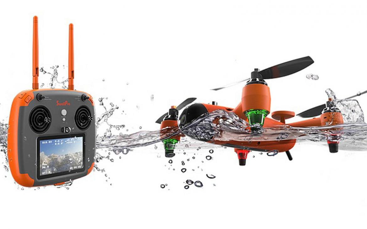 This waterproof sports drone can fly, float and swim while capturing 4K footage -