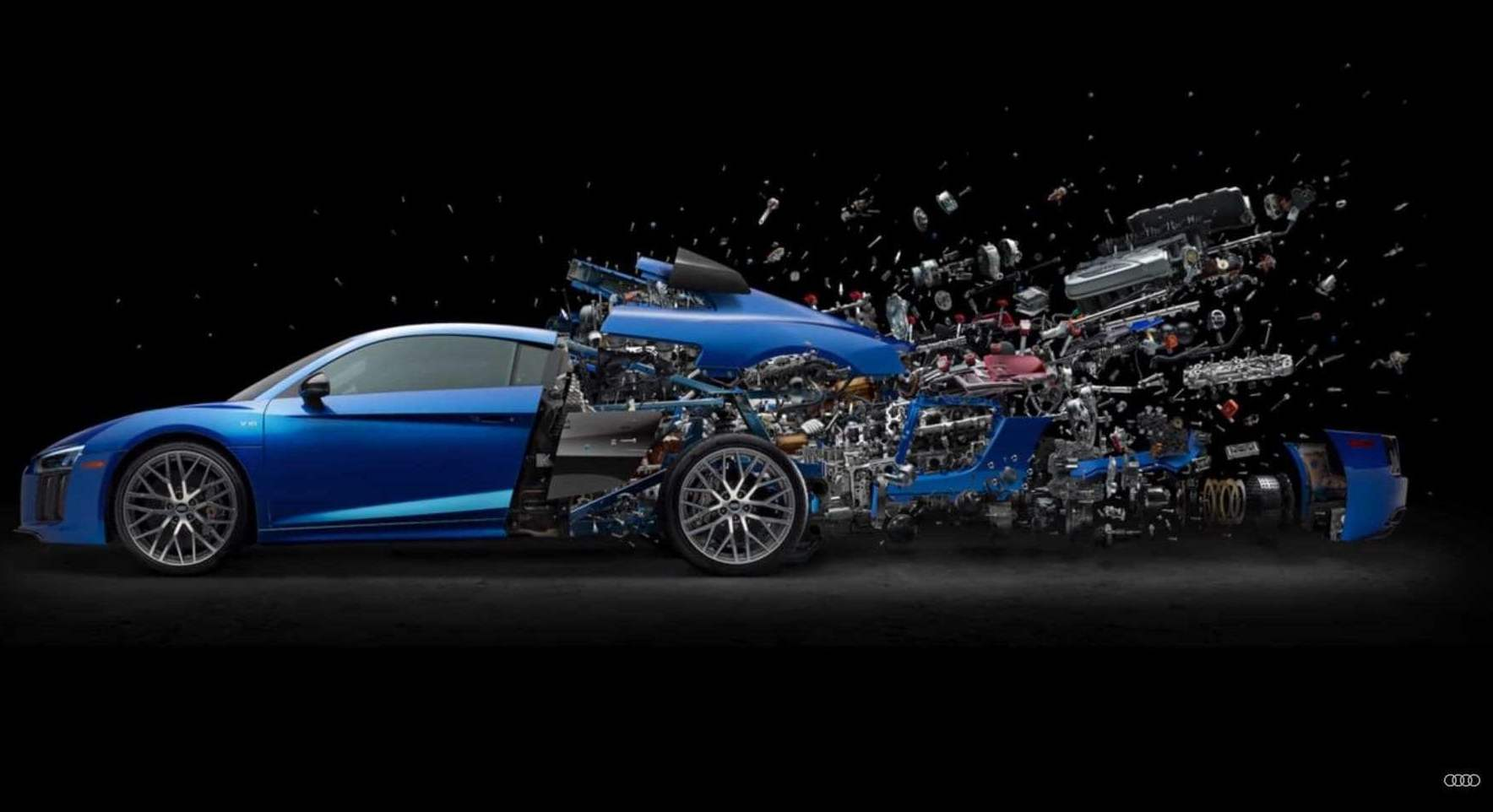 2017 Audi R8 >> Audi releases a poster of an exploding R8 to celebrate the ...
