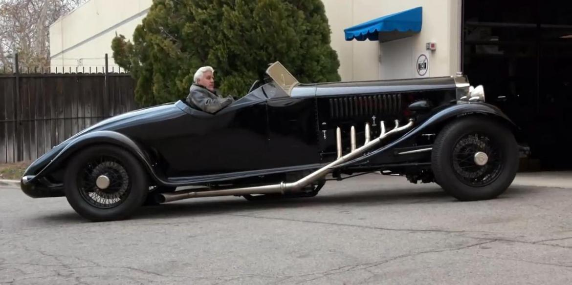 This 1934 Rolls-Royce owned by Jay Leno packs a 27-liter V12 engine from a World War II fighter -