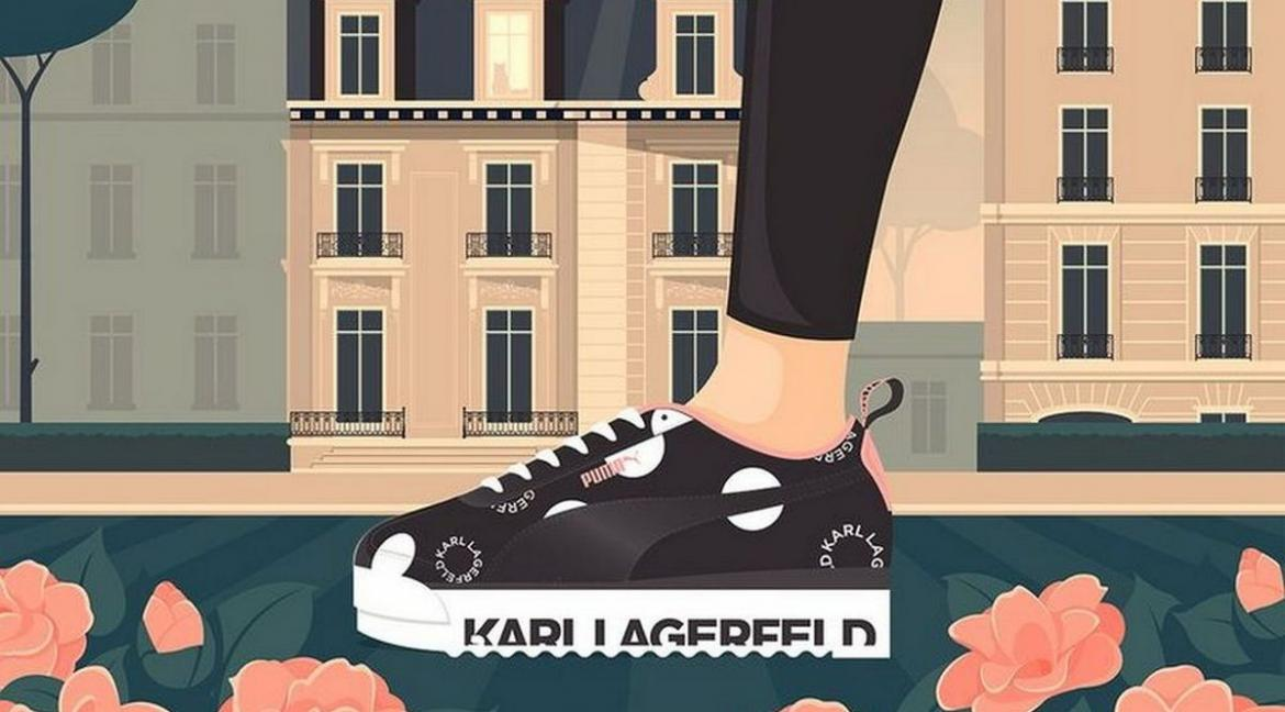 Its all about polka dots with the new Puma x Karl Lagerfeld sneakers -