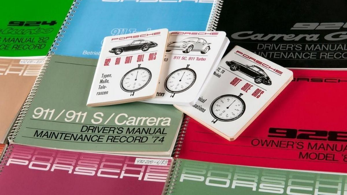 Porsche Classic has just reprinted over 700 original owner's manuals and documentation