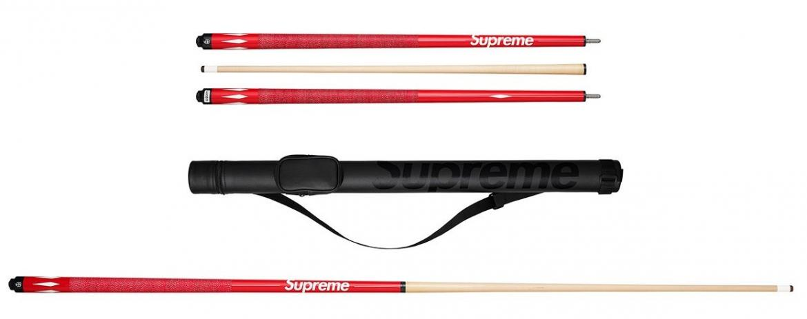 The Supreme x McDermott pool cue is possibly why we might start playing pool again -