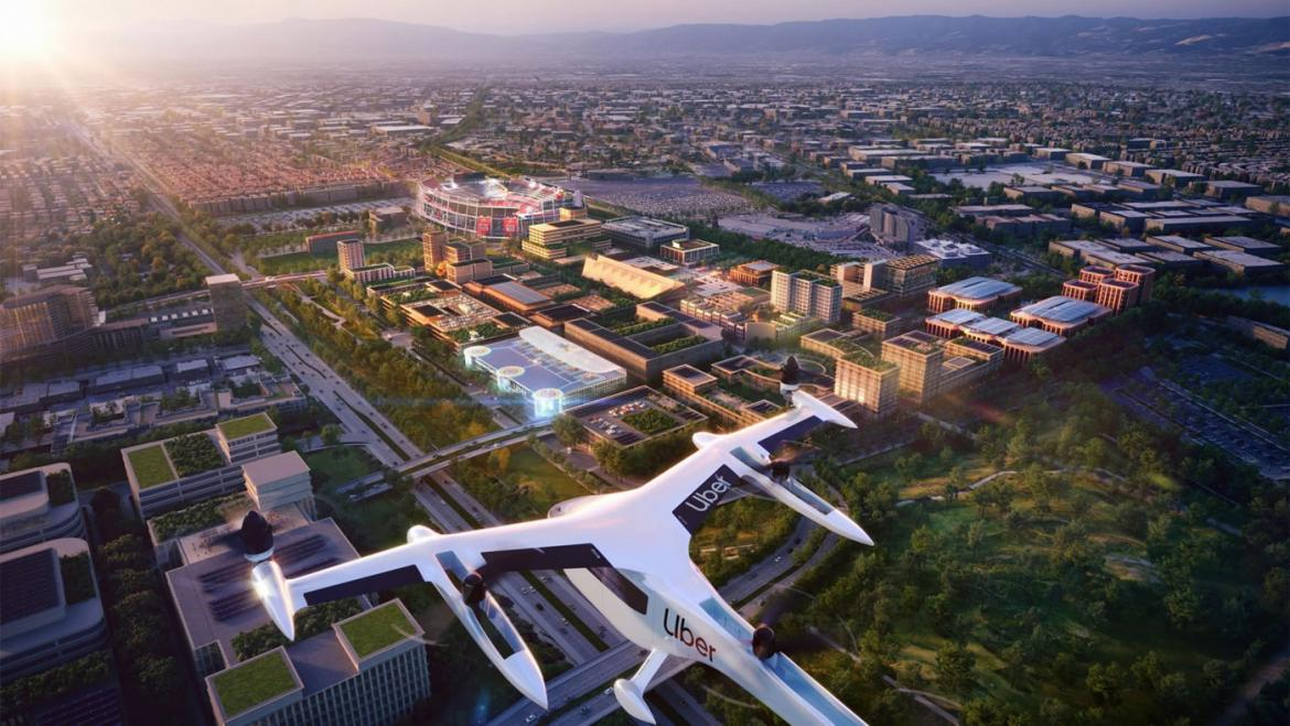 Straight out of Star Trek - Uber Air Skyport in Santa Clara which will be used by flying taxis -