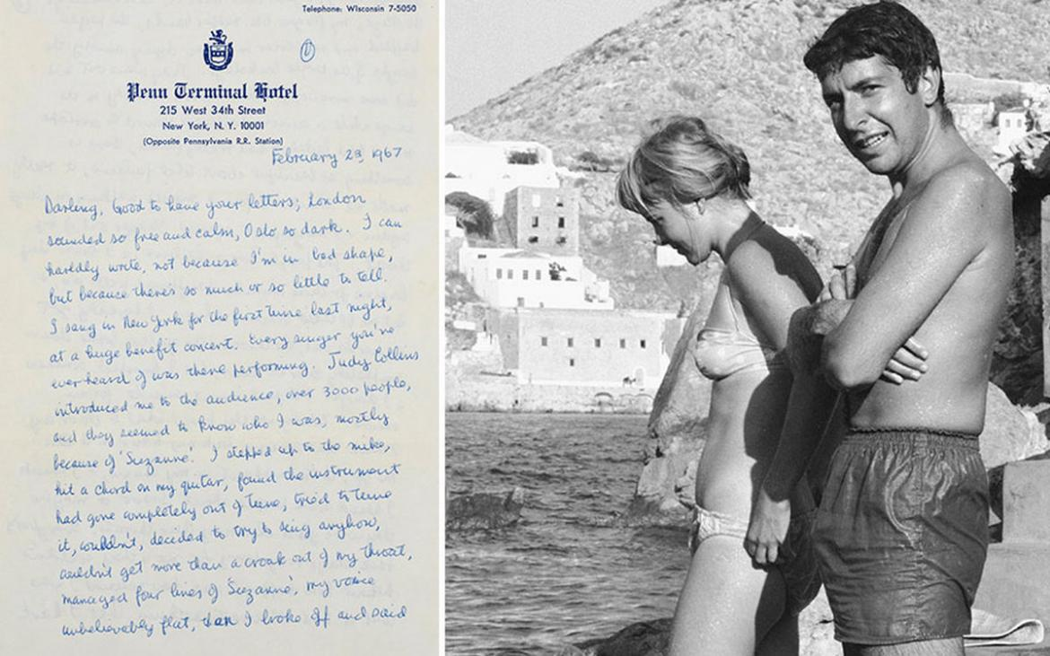 Canadian songwriter Leonard Cohen's love letters for his one-time girlfriend sell for $876,000 at auction -