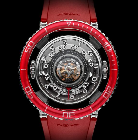 MB&F HM7 Aquapod Platinum Red watch (4)