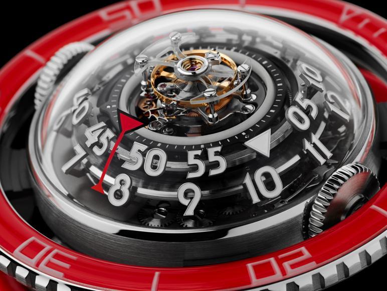 MB&F HM7 Aquapod Platinum Red watch (5)