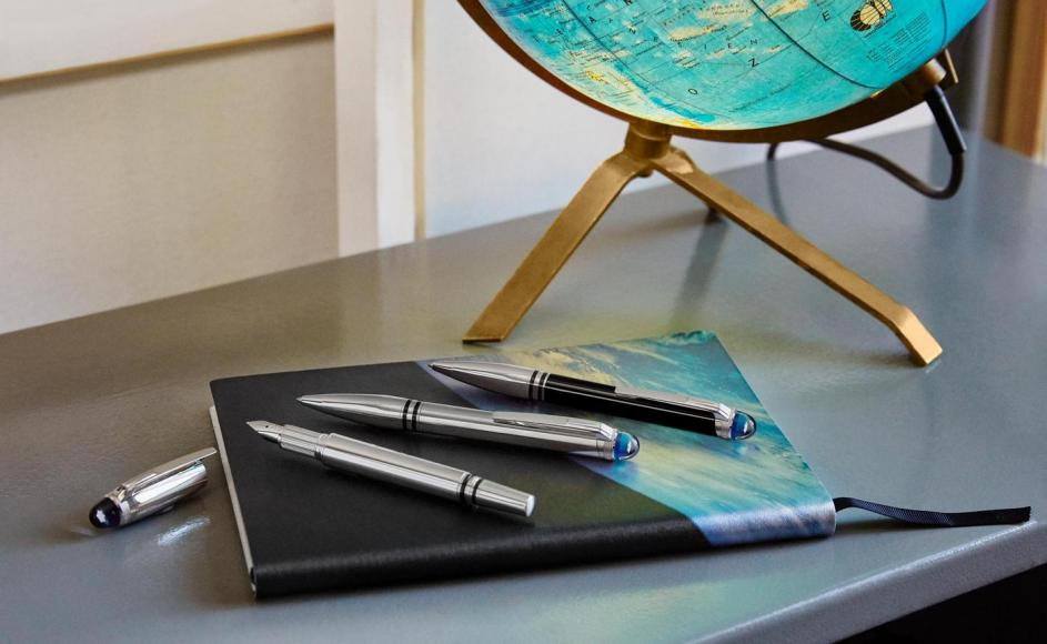 Montblanc's new StarWalker pen collection evokes the feeling of watching the earth from space -