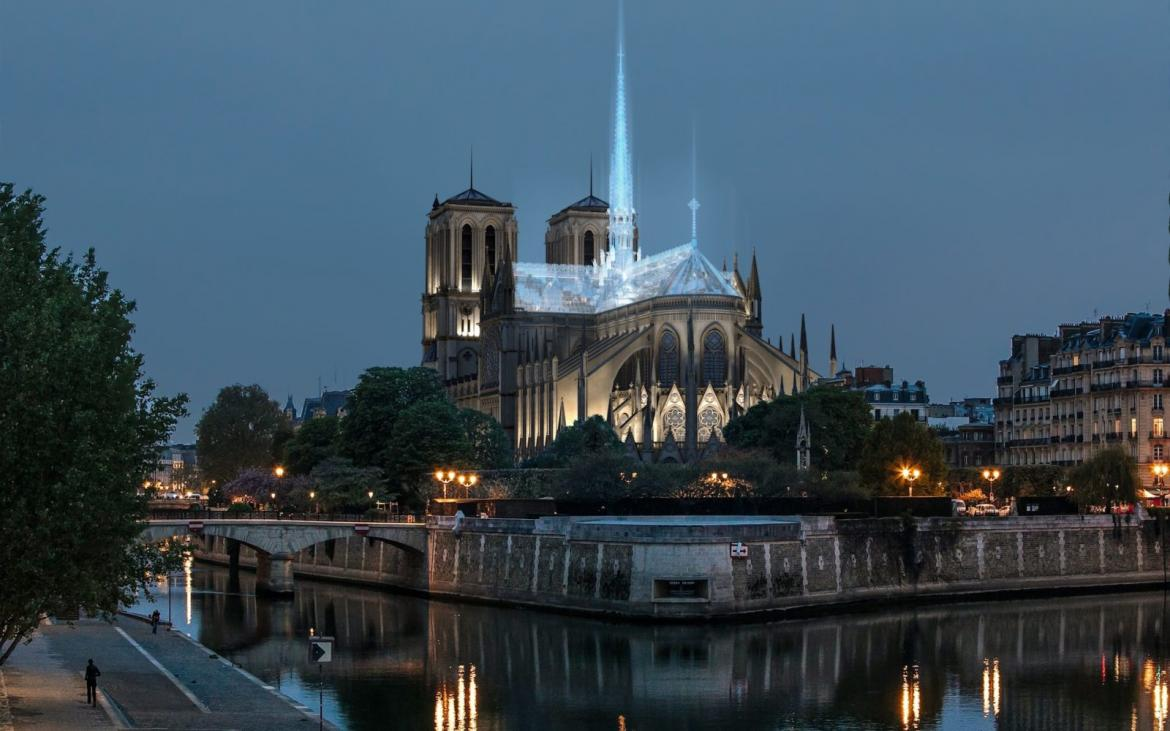 This is how the company that designed the Apple Store would want to redevelop the Notre Dame -