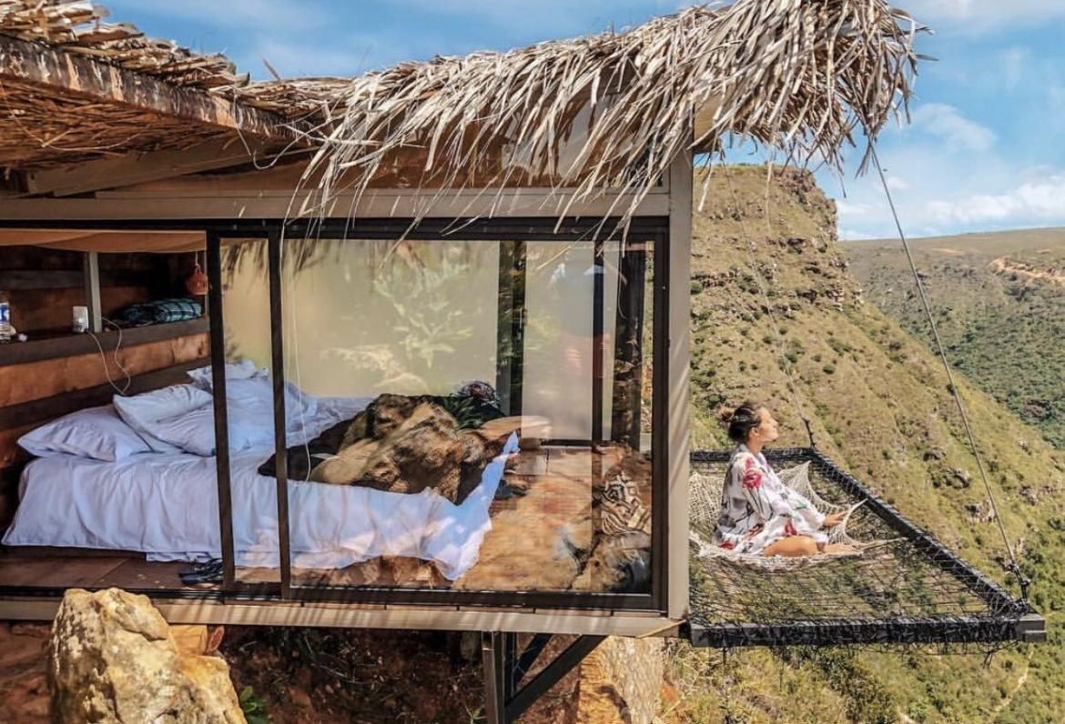 See it to believe it - This Colombian hotel with a suspended net balcony offers a view like no other -