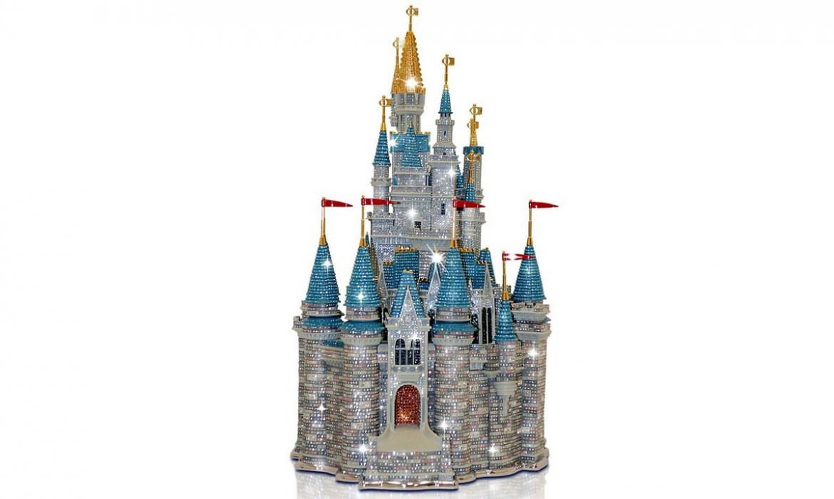 The ultimate gift for a Disney Fan: An exotic $40,000 Swarovski studded Cinderella Castel -